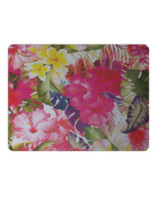 Hey Casey! Rectangular Mouse Pad - Tropical Party