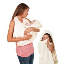 Clevamama Splash & Wrap Baby Bath Towel Cream