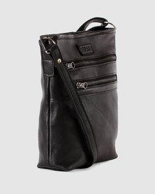 Seraph Genuine Leather Travel LITE Shoulder Bag Black