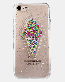 Naked Eyewear Glitter Ice Cream iPhone 7 Cover (Clear)