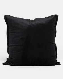 Grey Gardens Soft Velvet Scatter Cushion Black