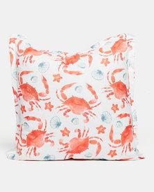 Grey Gardens Crabs Scatter Cushion Orange