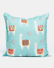 Grey Gardens Lama Scatter Cushion Aqua