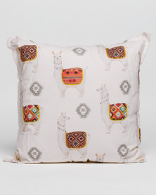 Grey Gardens Lama Scatter Cushion White