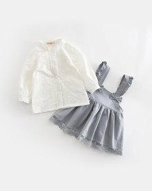 Pinkstardust Pinafore & Shirt Blue-Grey