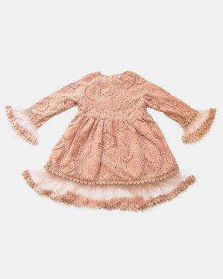 Pinkstardust Flowered Lace Dress Pink