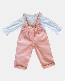 Pinkstardust Corduroy Dungaree & Shirt - Pink