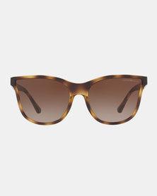 Emporio Armani 0EA4112 502613 Havana Butterfly Sunglasses Dark