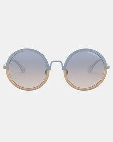 Emporio Armani 0EA2077 3270V6 Round Sunglasses Blue
