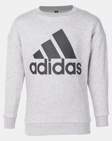 adidas Performance Boys BOS Crew Grey
