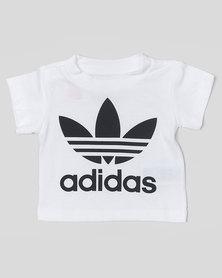 adidas Originals Infants Trefoil Tee White