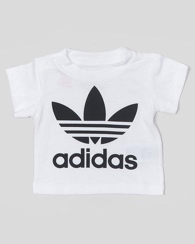 5f01673c5f8a5 adidas Originals Infants Trefoil Tee White