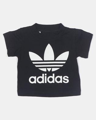 adidas Originals Infants Trefoil Tee Black
