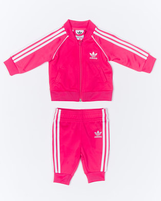 adidas Originals Infants Superstar Suit Pink