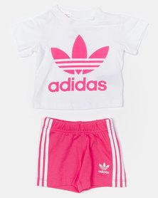 adidas Originals Infants Short Tee Set Pink