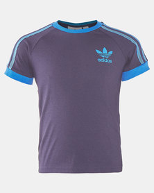 adidas Originals 3 Stripes Tee Blue