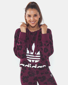 adidas Originals Cropped Hoodie Red