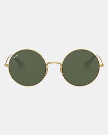 Ray-Ban Ja-Jo Rubber Gold Sunglasses Dark Green
