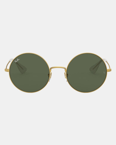 Ray-Ban Ja-Jo Rubber Gold Sunglasses Dark Green