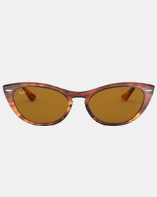 Ray-Ban Nina Stripped Sunglasses Brown