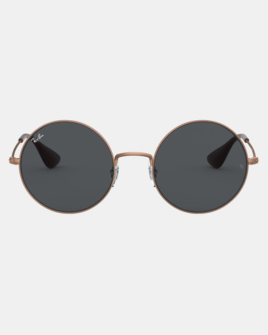 Ray-Ban Ja-Jo Rubber Copper Sunglasses Dark Grey