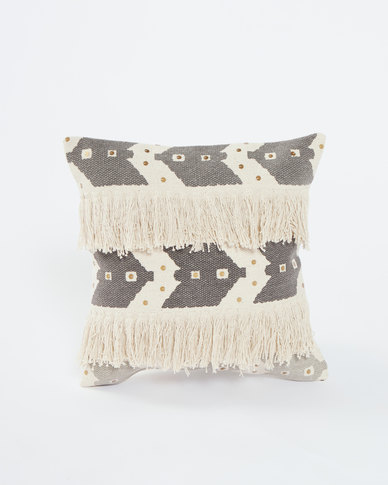Utopia Cotton Frill Scatter Cushion Neutrals