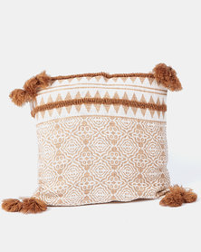 Utopia Indian Damask Scatter Cushion Medium Neutrals