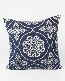 Utopia Mandala Scatter Cushion Medium Navy