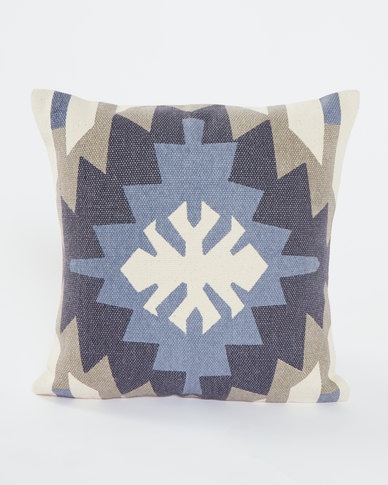 Utopia Aztec Scatter Cushion Blue/Grey