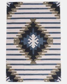 Utopia Aztec Print Rug Grey