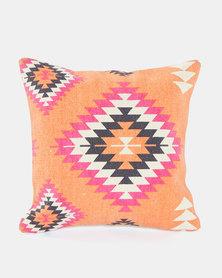 Utopia Aztec Scatter Cushion Small Orange