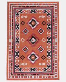 Utopia Aztec Print Rug Orange