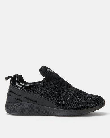 Pierre Cardin Sporty Knit Sneakers Black