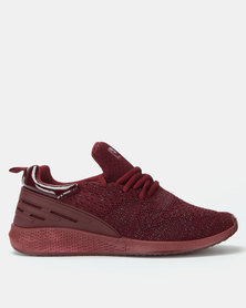 Pierre Cardin Sporty Knit Sneaker Bordeux