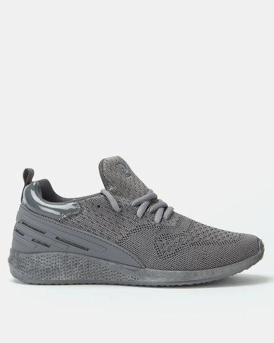 Pierre Cardin Sporty Knit Sneaker Grey