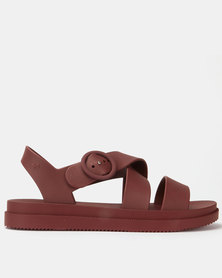 ZAXY Street Sandals Burgundy