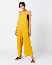 Utopia Linen Jumpsuit Mustard
