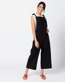 Utopia Linen Jumpsuit Black