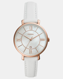 Fossil Jacqueline Leather Watch White