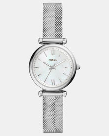 Fossil Carlie Mini Watch Silver