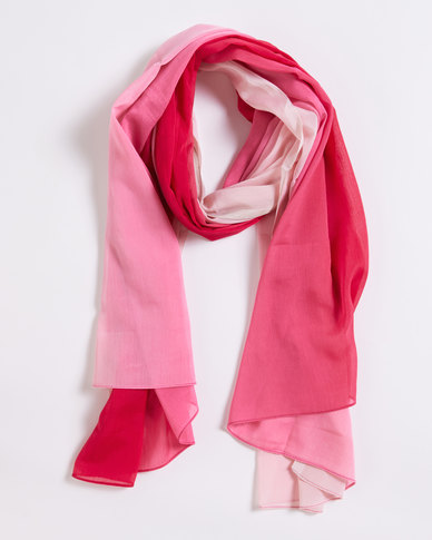 Joy Collectables Ombre Light Scarf Pink
