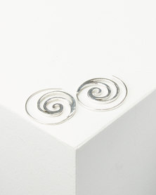 Joy Collectables Spiral Earrings Silver