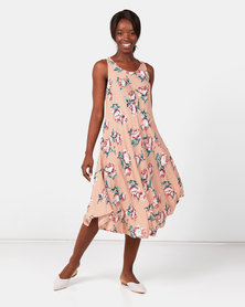 Utopia Floral A-line Dress Pink