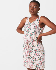 Utopia Floral Tunic Dress Pink