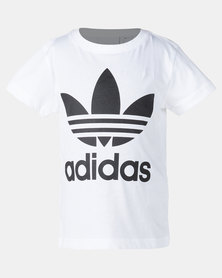 Adidas Little Boys Trefoil Tee White/Black