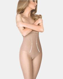 Gabriella High Body Shaping Pantyhose Stockings Natural
