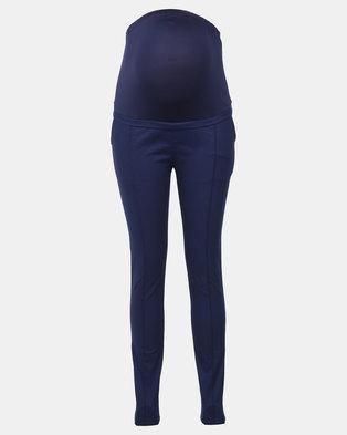 Foxy Mama navy maternity pants