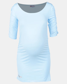 Foxy Mama light blue top