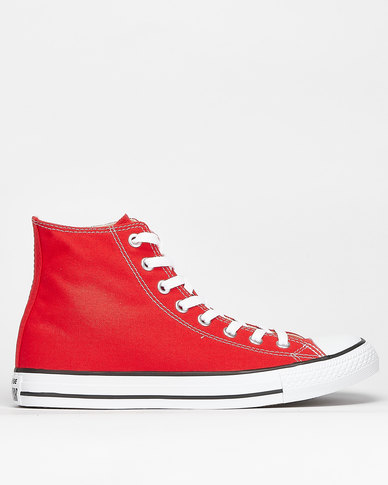 Converse All Star Hi Top Sneakers Red