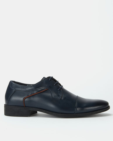 Bata Formal Lace up Shoes Navy